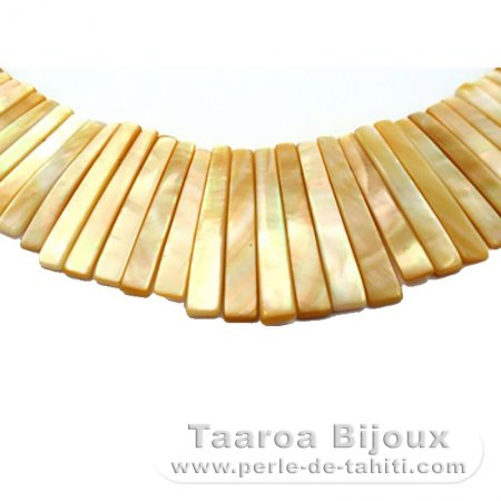 Australian Mother-of-pearl necklace - Size = 40 cm