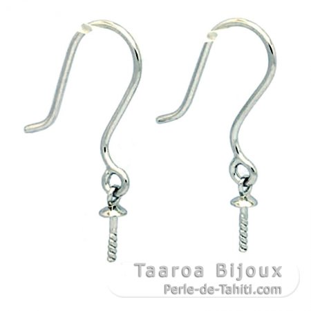 Earrings for pearls from 8 to 14 mm - Silver .925