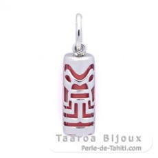 Silver and Pink Agate Tiki - 15 mm - Abundance