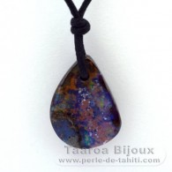 Waxed cotton Necklace and 1 Boulder Australian Opal - 28 carats