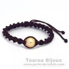 Nylon Bracelet and 1 Australian Pearl Round C 10.8 mm