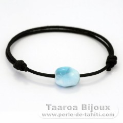 Cotton Bracelet and 1 Larimar - 13 x 10.5 x 9 mm - 2 gr