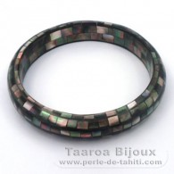 Tahitian Mother-of-pearl bracelet - Diameter = 6 cm