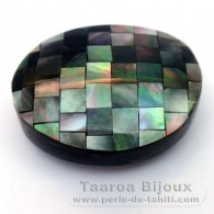 Mother-of-pearl nugget shape - 37 x 30 x 13 mm