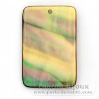Tahitian mother-of-pearl rectangle shape - 30 x 20 mm