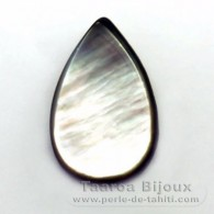 Mother-of-pearl drop shape - 24 x 15 mm