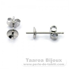 Earrings for pearls from 7 to 12 mm - Silver .925
