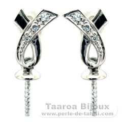 Earrings for pearls from 8 to 10 mm - Silver .925