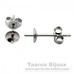 Earrings for pearls from 8 to 12 mm - Silver .925