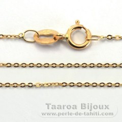 18K Solid Gold Chain - Length = 45 cm - 18'' / Diameter = 0.8 mm