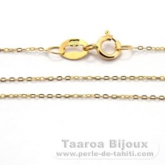 18K Solid Gold Chain - Length = 40 cm - 16'' / Diameter = 0.7 mm