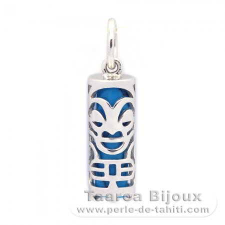 Silver and Turquoise Tiki - 15 mm - Health