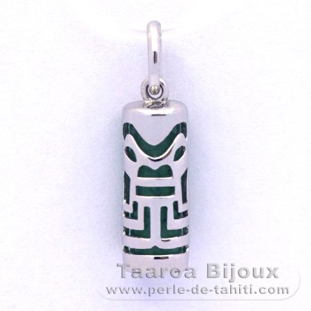 Silver and Aventurine Tiki - 15 mm - Abundance