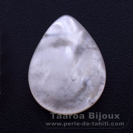 Mother-of-pearl drop shape - 25 x 20 mm