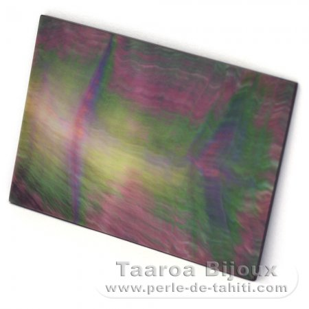 Tahitian mother-of-pearl rectangle shape - 50 x 35 mm