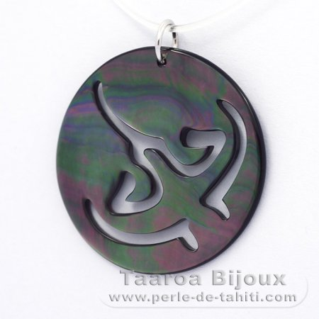 Tahitian Mother-of-Pearl Ray Pendant (Pinctada Margaritifera)