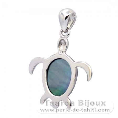 Tahitian Mother-of-Pearl Turtle Pendant