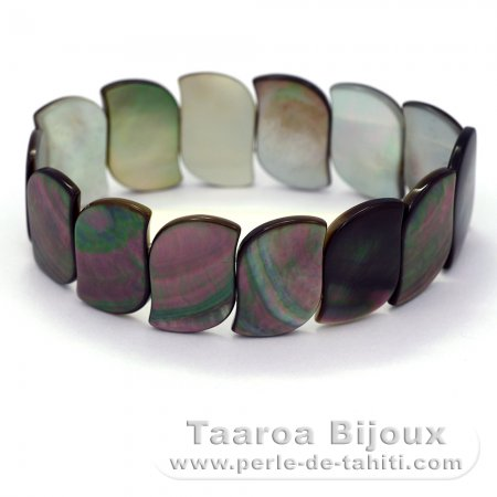 Tahitian Mother-of-pearl bracelet - Size = 18 cm