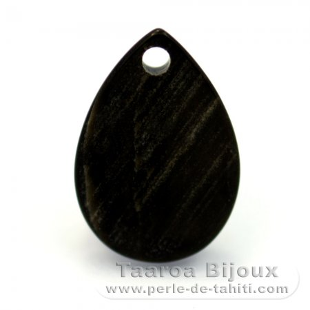Tahitian Mother-of-pearl drop shape - 13 x 9 mm