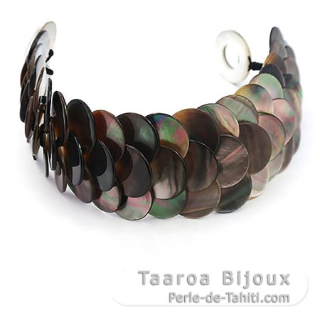 Tahitian Mother-of-pearl bracelet - Size = 19 cm