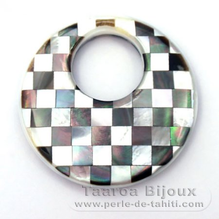 Tahitian mother-of-pearl round shape - 40 mm diameter