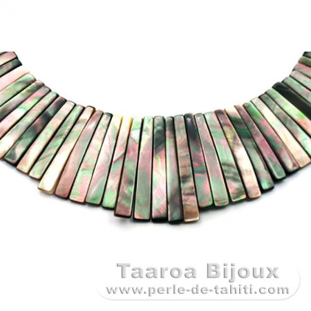 Tahitian Mother-of-pearl necklace - Length = 38 cm