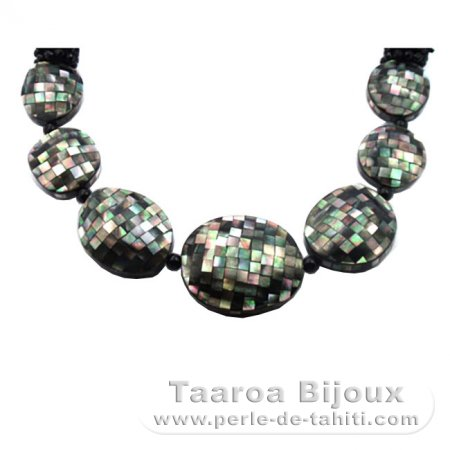 Tahitian Mother-of-pearl necklace - Length = 55 cm