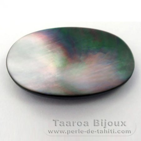 Tahitian Mother-of-pearl oval shape - 30 x 20 x 4 mm