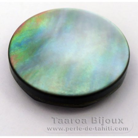Tahitian mother-of-pearl faceted round shape - 23 mm diameter