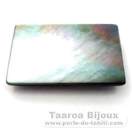 Tahitian mother-of-pearl rectangle shape - 30 x 20 x 4 mm
