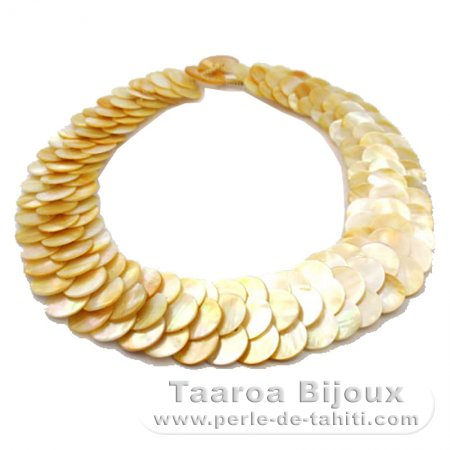 Australian Mother-of-pearl necklace - Length = 45 cm