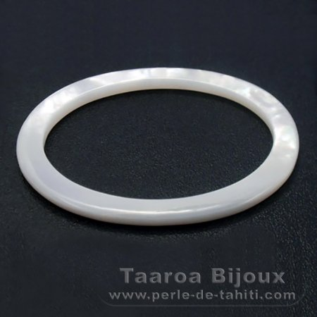 Mother-of-pearl oval shape - 45 x 35 x 2 mm