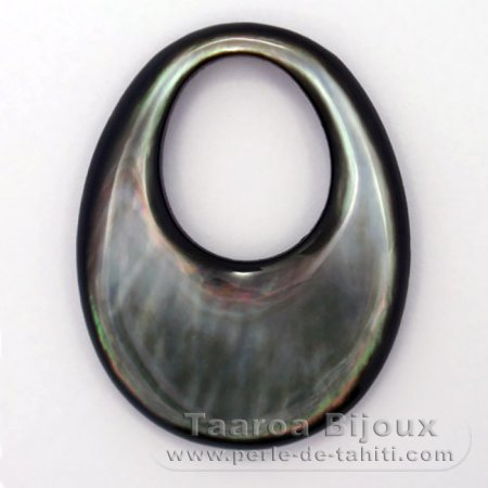 Tahitian Mother-of-pearl oval shape - 45 x 35 mm