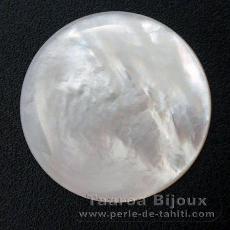 Mother-of-pearl round shape - 25 mm diameter