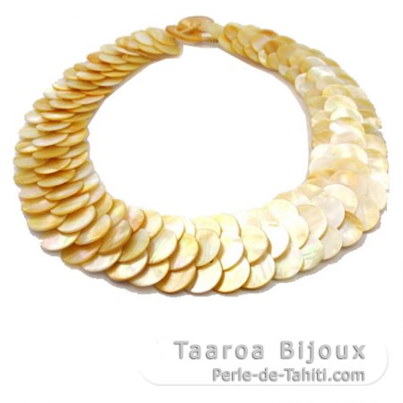 Australian Mother-of-pearl necklace - Length = 50 cm