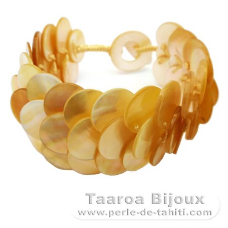 Australian Mother-of-pearl bracelet - Length = 18 cm