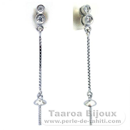 Earrings for pearls from 8 to 9.5 mm - Silver .925