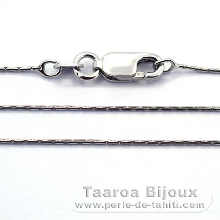 Rhodiated Sterling Silver Chain - Length = 45 cm - 18'' / Diameter = 0.7 mm