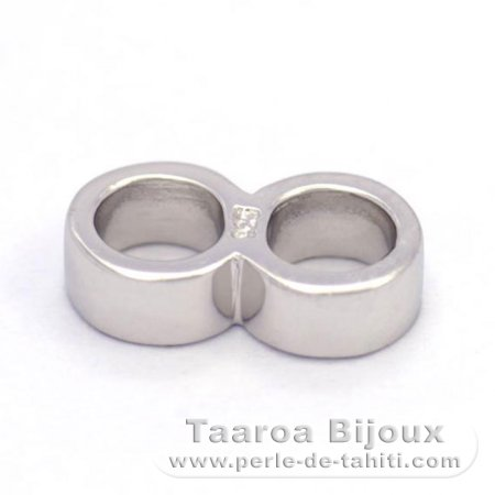 Double Ring - Silver .925 - Length = 10.9 mm