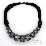 Tahitian Mother-of-pearl necklace - Length = 52 cm
