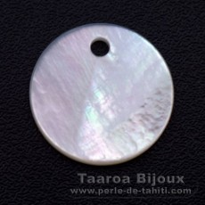 Mother-of-pearl round shape - 15 mm diameter