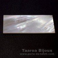 Mother-of-pearl rectangle shape - 50 x 25 x 1 mm