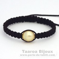 Nylon Bracelet and 1 Australian Pearl Semi-Baroque C 11.4 mm