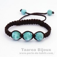 Nylon Bracelet and 5 Larimar - 5.4 gr