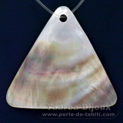 Tahitian mother-of-pearl Triangle shape - 40 x 44 mm