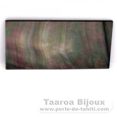Tahitian mother-of-pearl rectangle shape - 50 x 25 mm