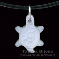 Mother-of-pearl small Turtle - 13 x 7.7 mm