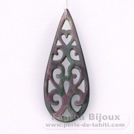 Tahitian Mother-of-pearl drop shape - 50 x 20 mm
