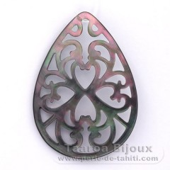 Tahitian Mother-of-pearl drop shape - 50 x 35 mm