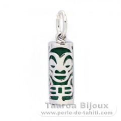 Silver and Aventurine Tiki - 15 mm - Health